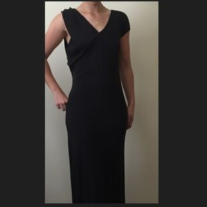 Each x Other Asymmetric Long Black Dress